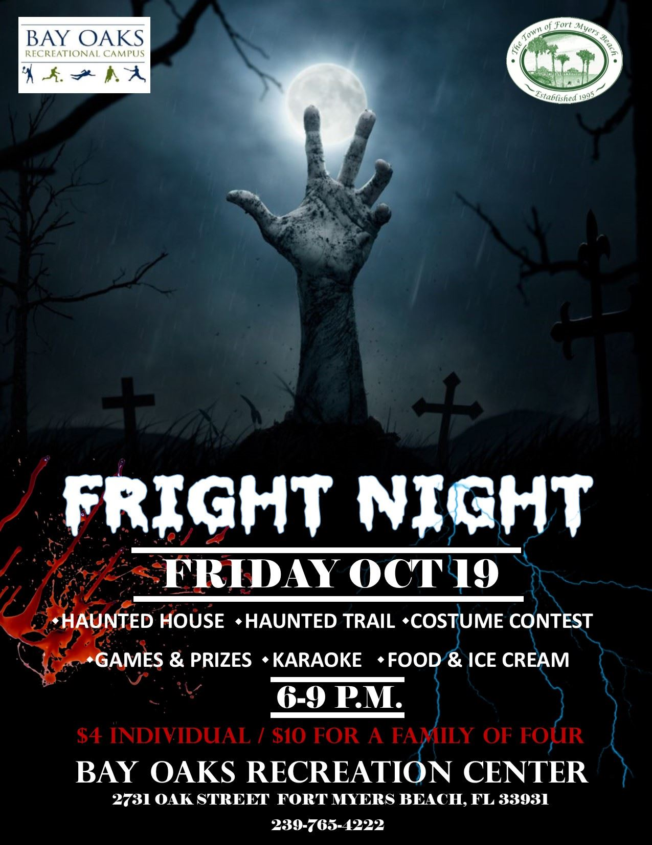 Fright Night flyer 2018