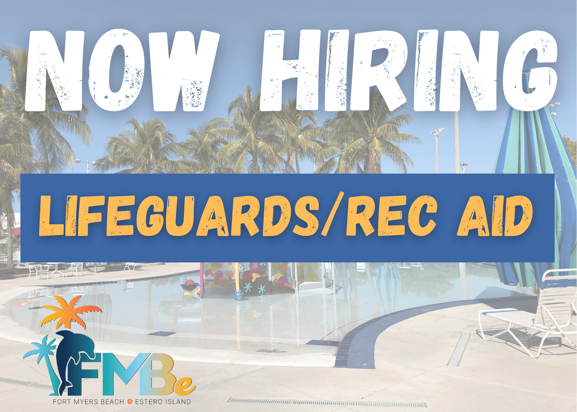 NOW HIRING lifeguards rec aid